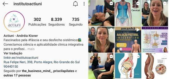 instagram actiuni p Instituo Actiuni Andréia Kisner